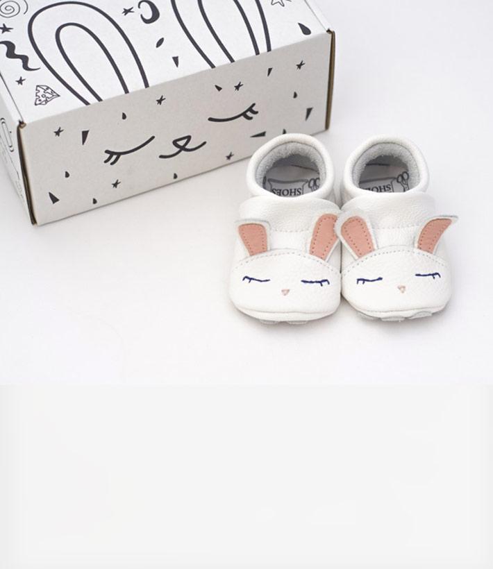 089c1cdf407 Μαλακά Βρεφικά Παπούτσια Cute Rabbit